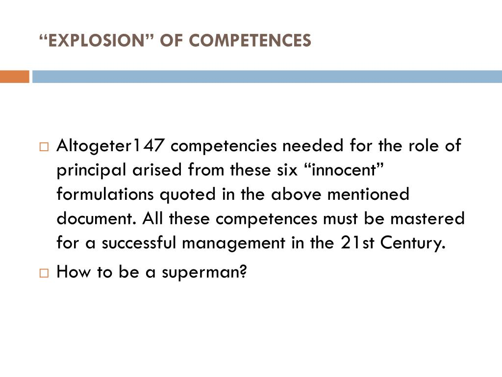 """EXPLOSION"" OF COMPETENCES"