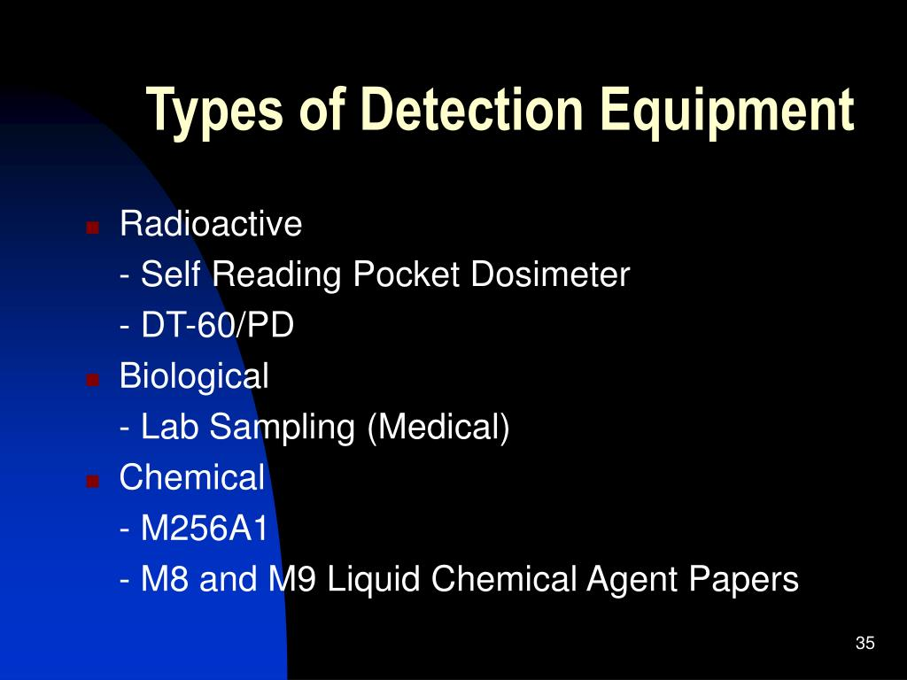 Types of Detection Equipment