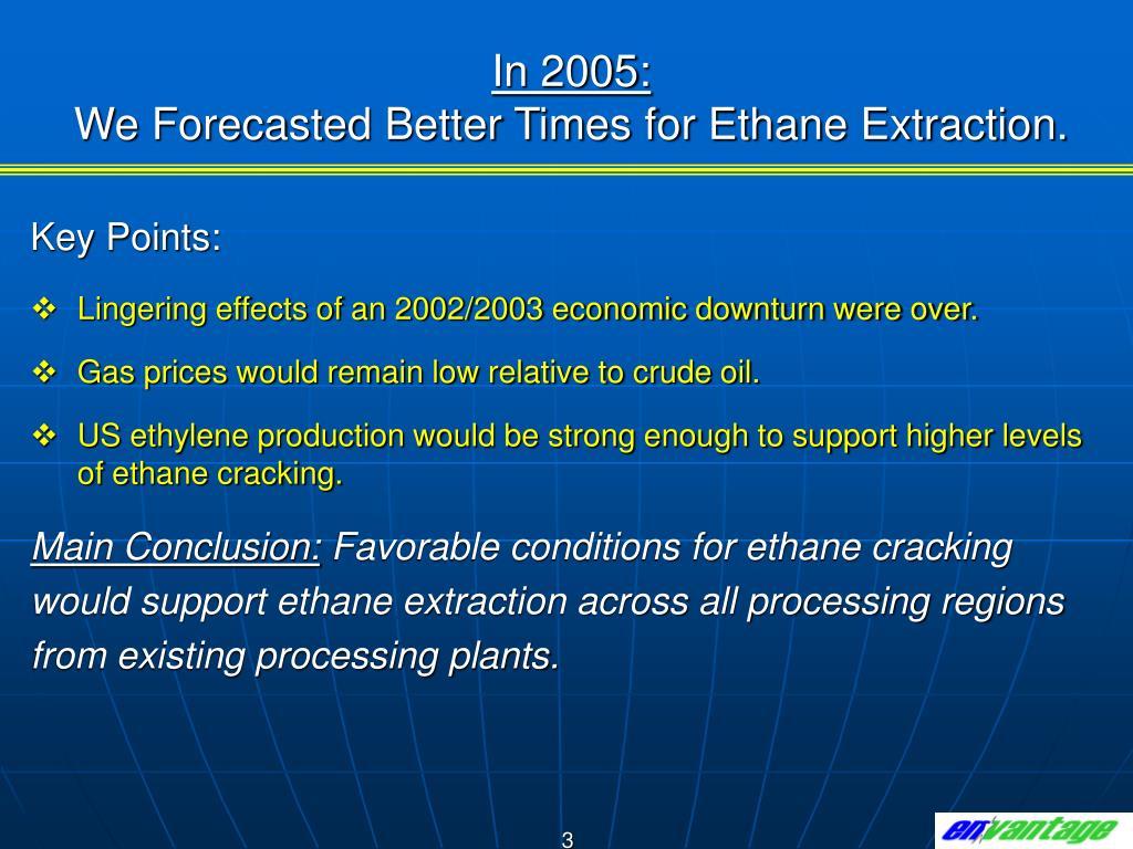 In 2005: