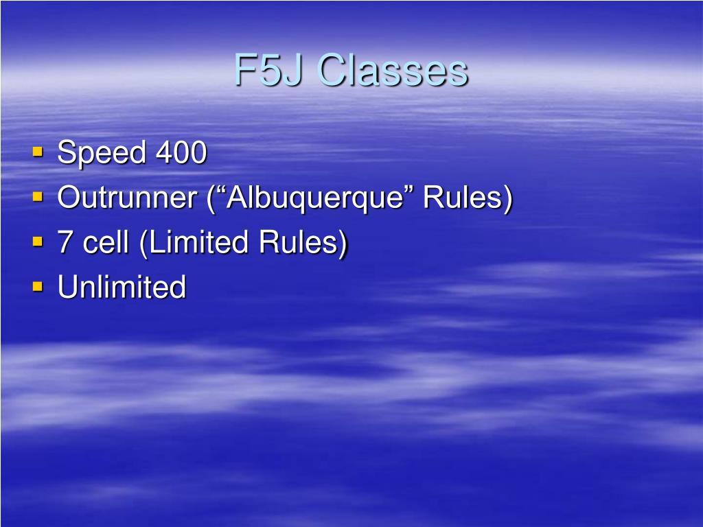 F5J Classes