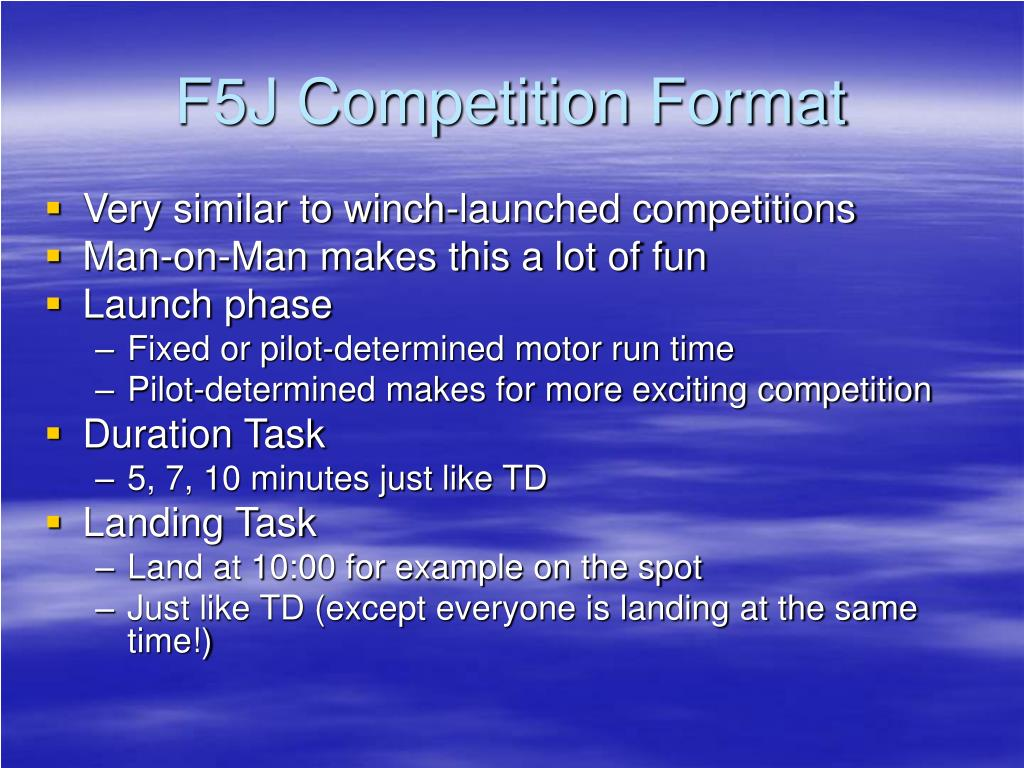 F5J Competition Format
