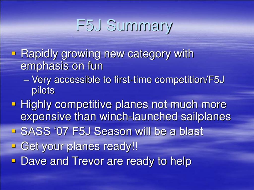 F5J Summary