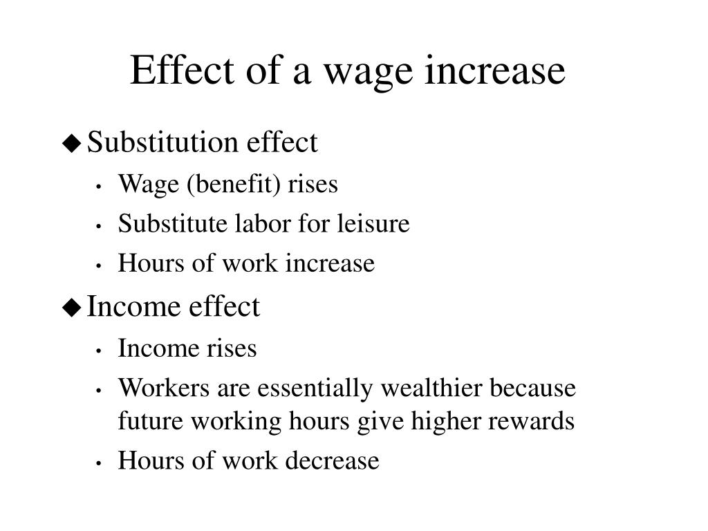 Effect of a wage increase