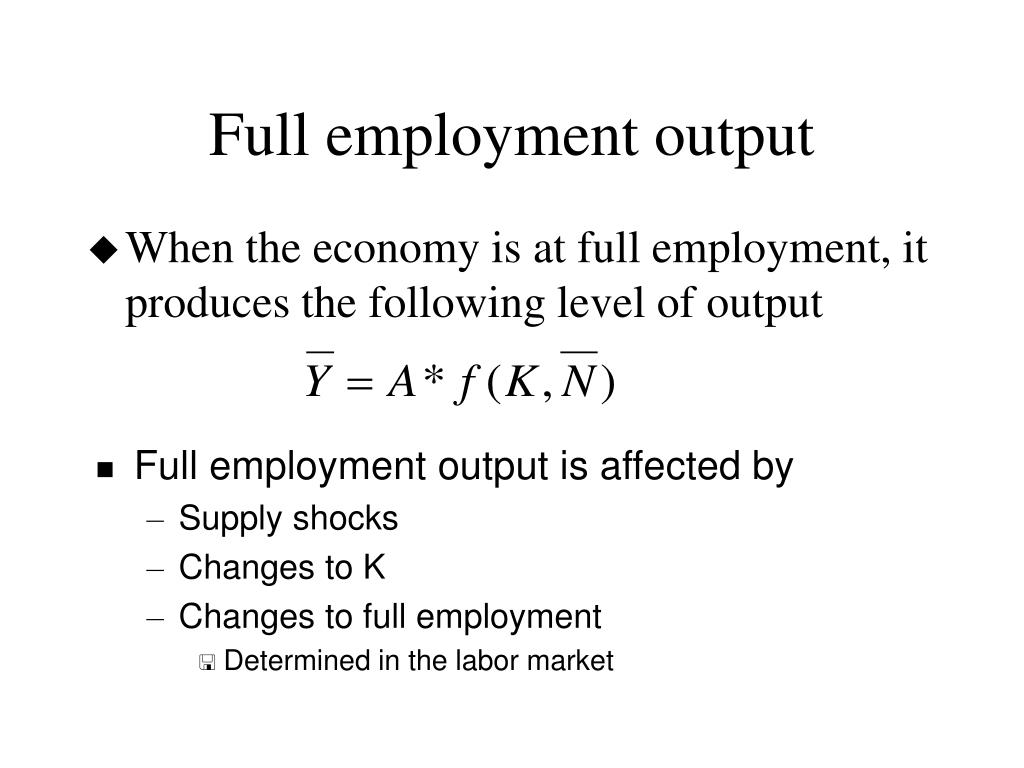 Full employment output