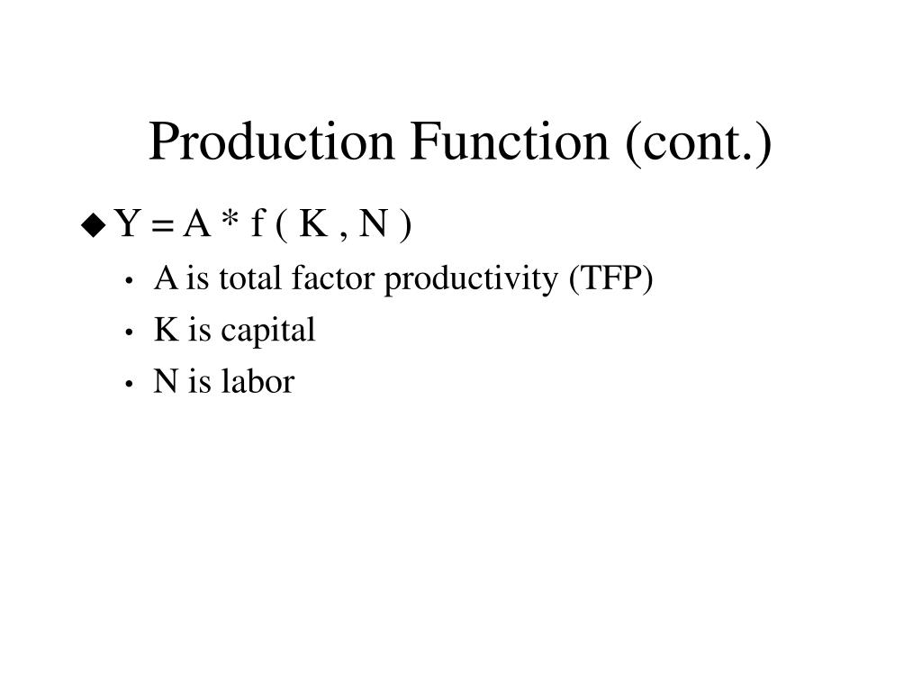 Production Function (cont.)