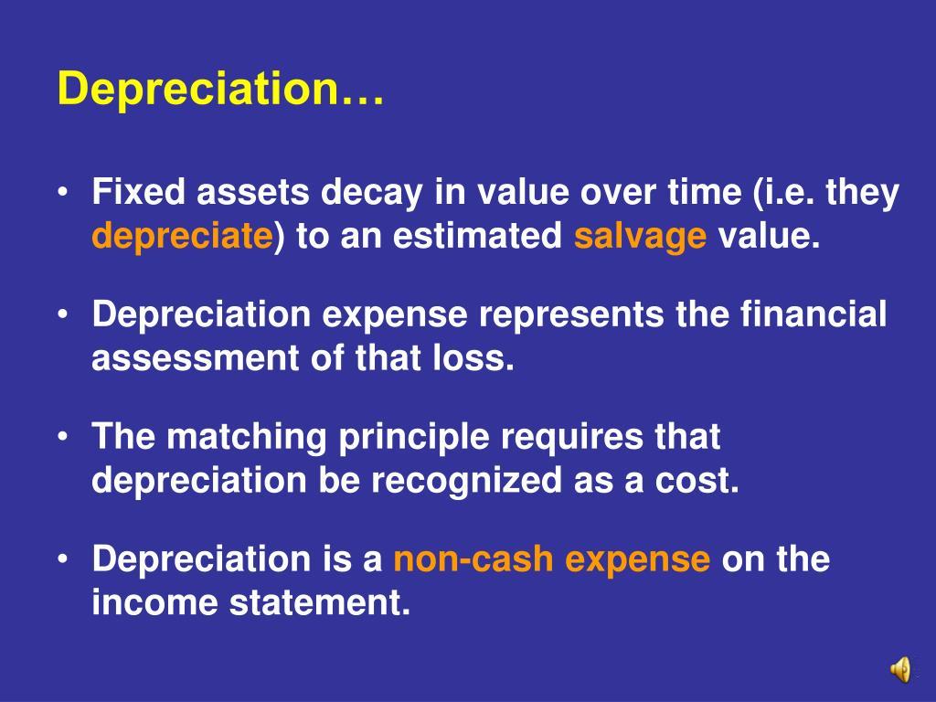 Depreciation…