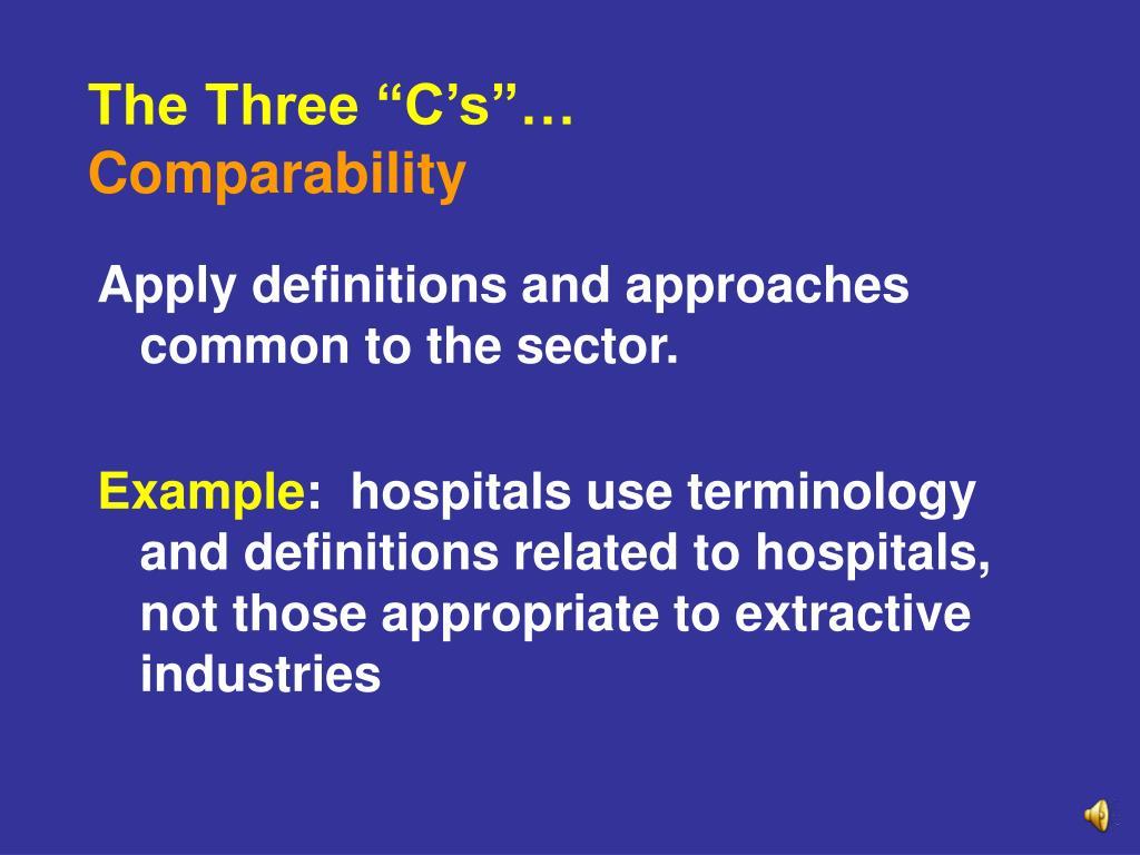 "The Three ""C's""…"