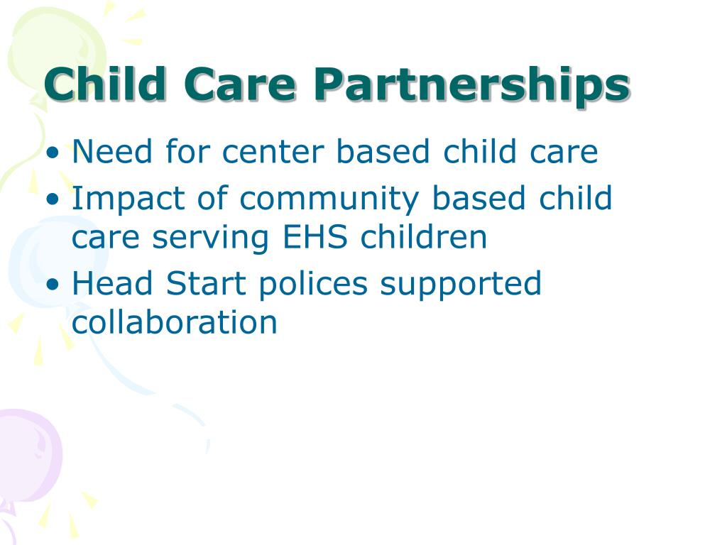 Child Care Partnerships