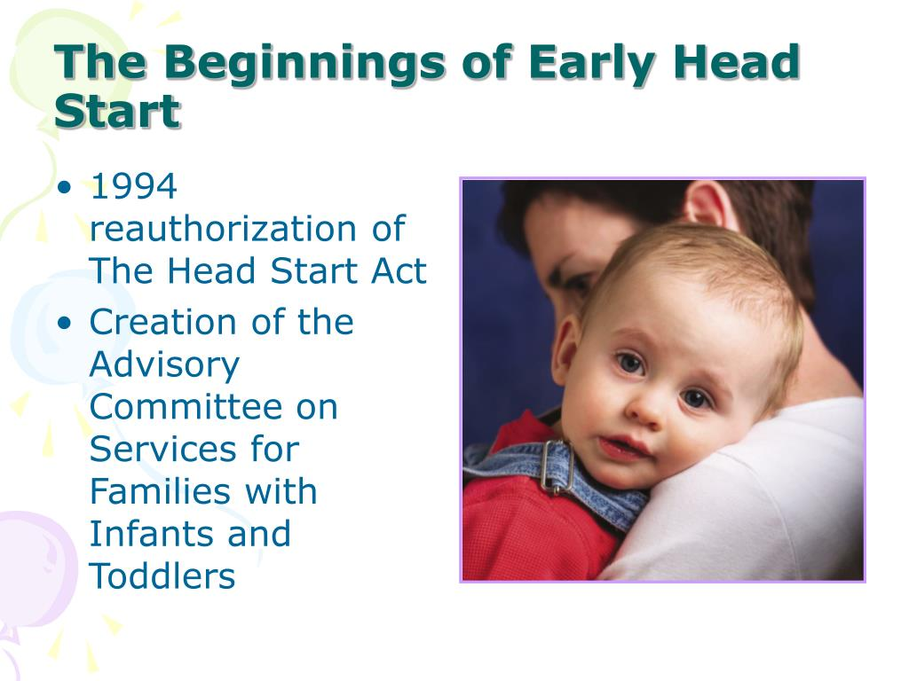 The Beginnings of Early Head Start