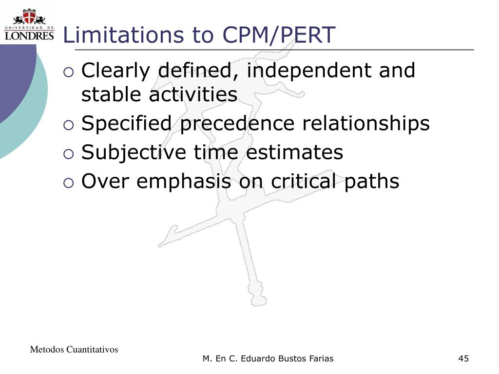 Limitations to CPM/PERT