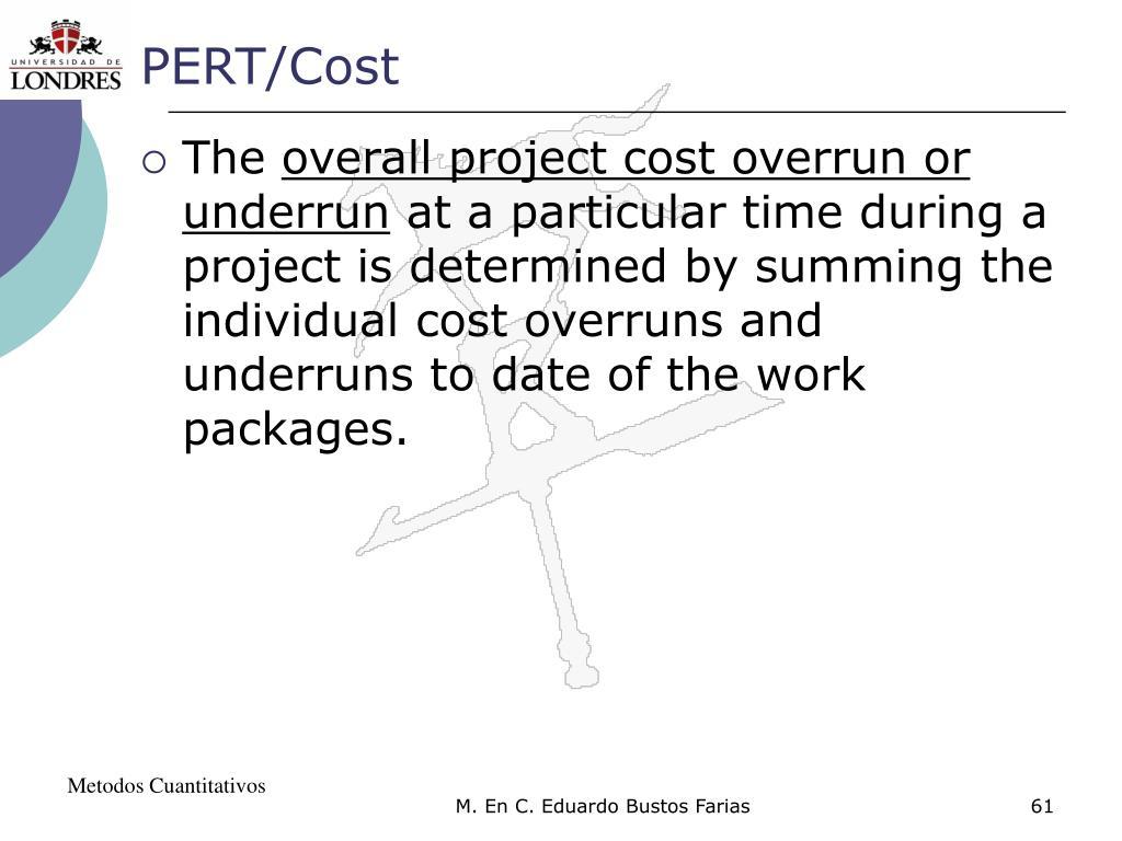 PERT/Cost