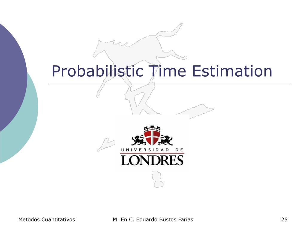 Probabilistic Time Estimation