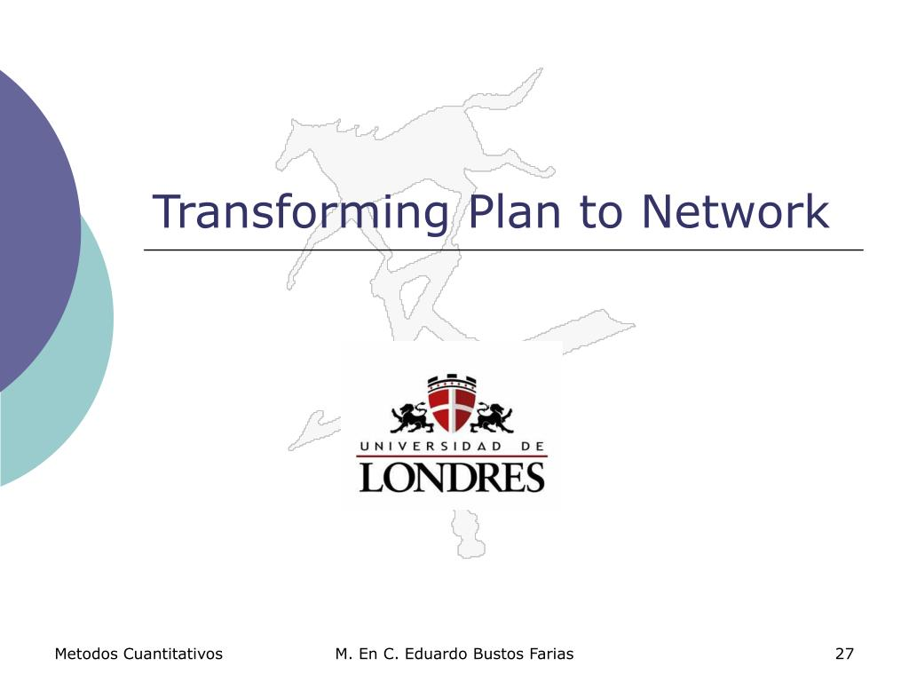 Transforming Plan to Network