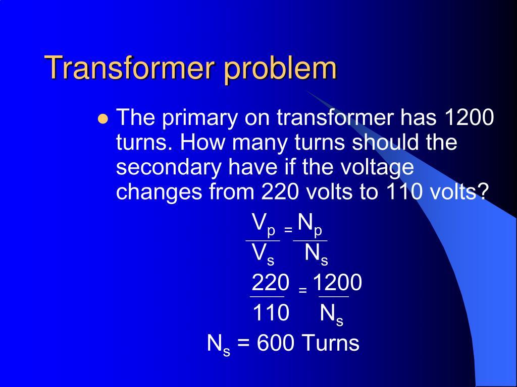 Transformer problem