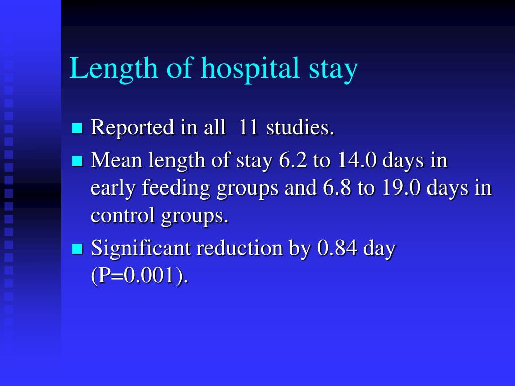 Length of hospital stay