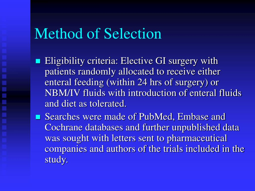 Method of Selection