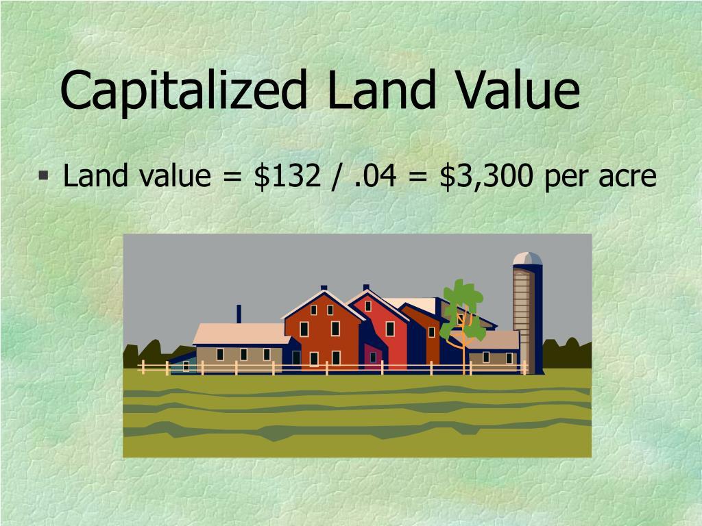 Capitalized Land Value