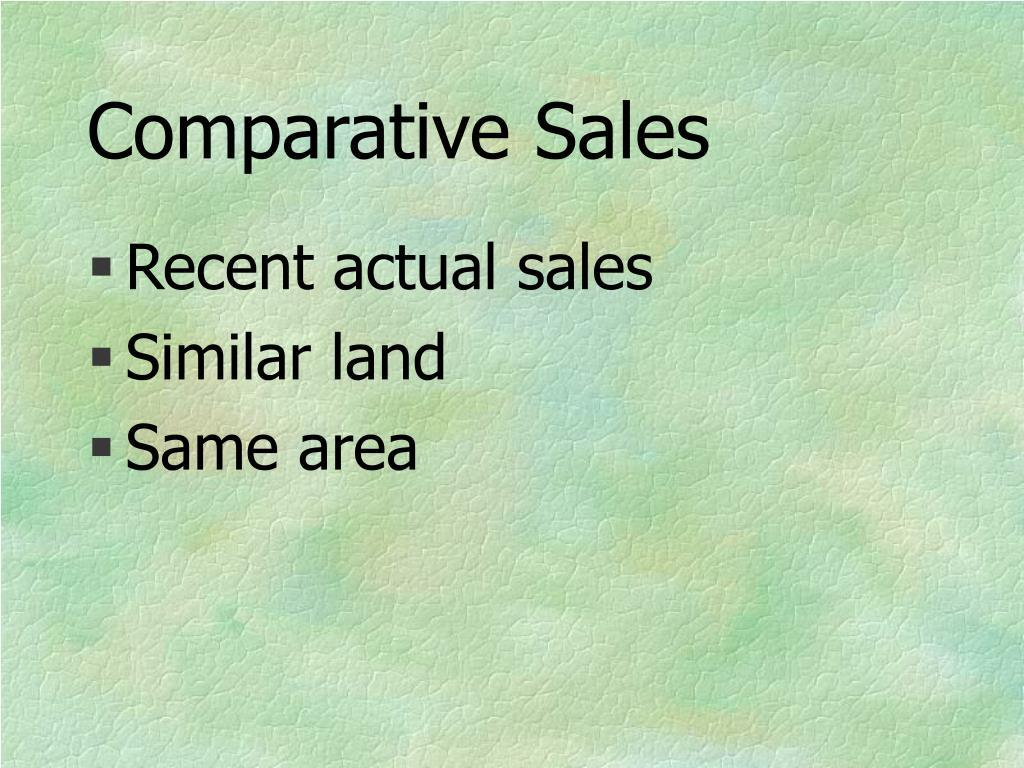 Comparative Sales