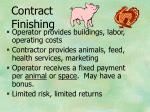 contract finishing