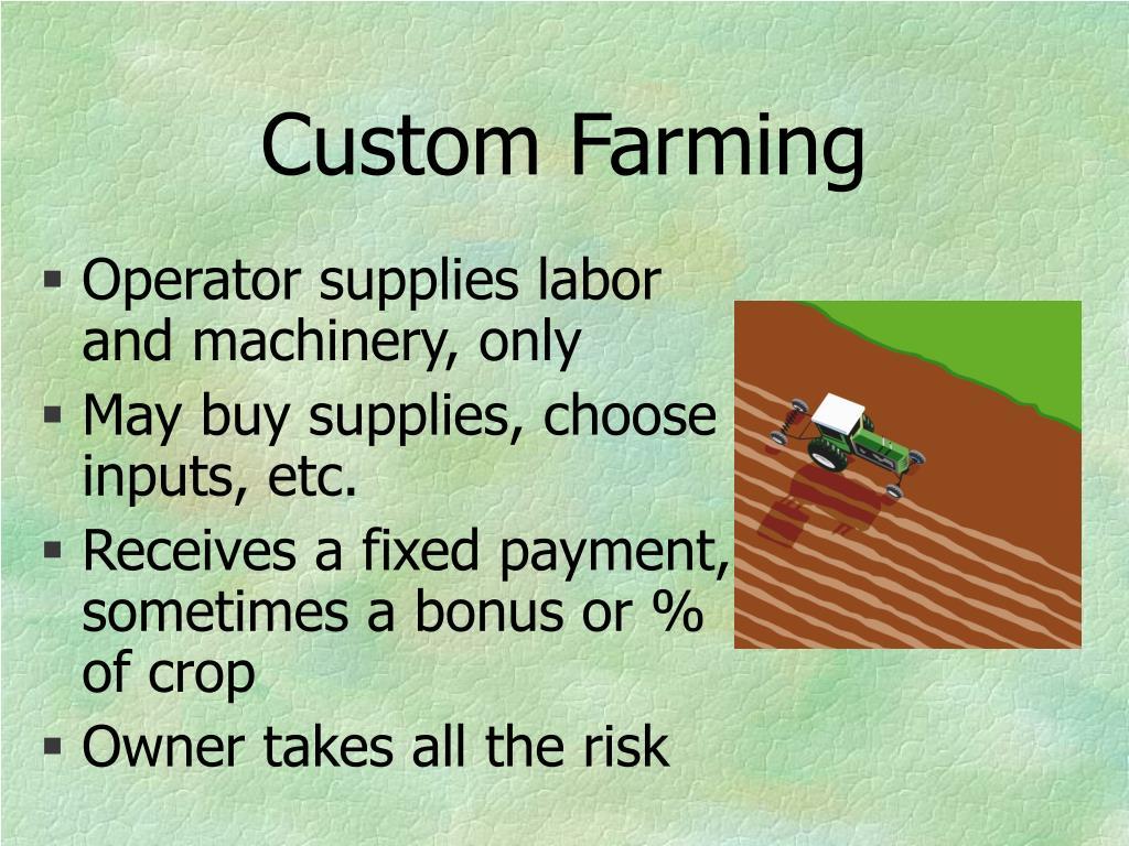 Custom Farming