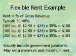 flexible rent example