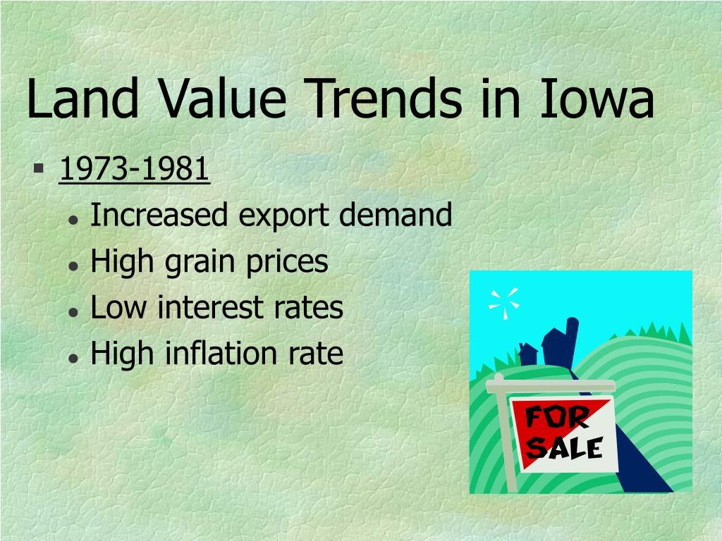 Land Value Trends in Iowa