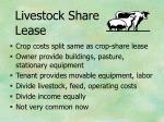 livestock share lease