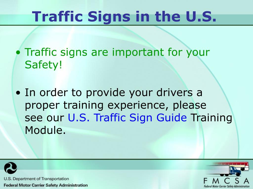 Traffic signs are important for your Safety!