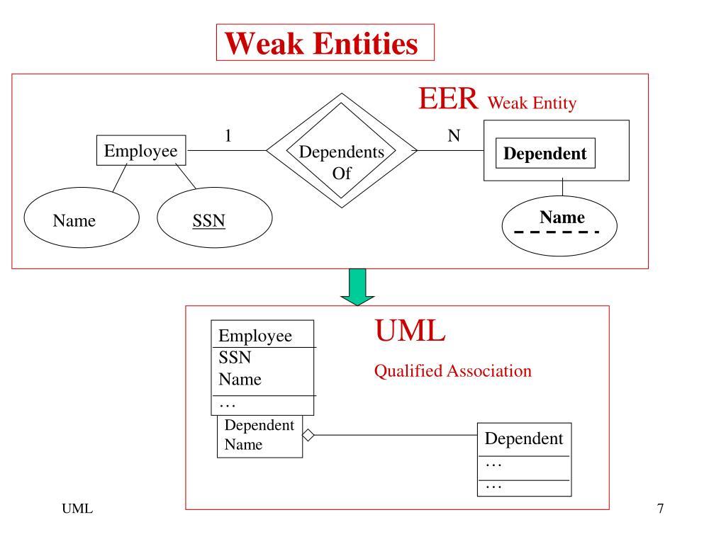 PPT - EER vs. UML Terminology PowerPoint Presentation - ID ...