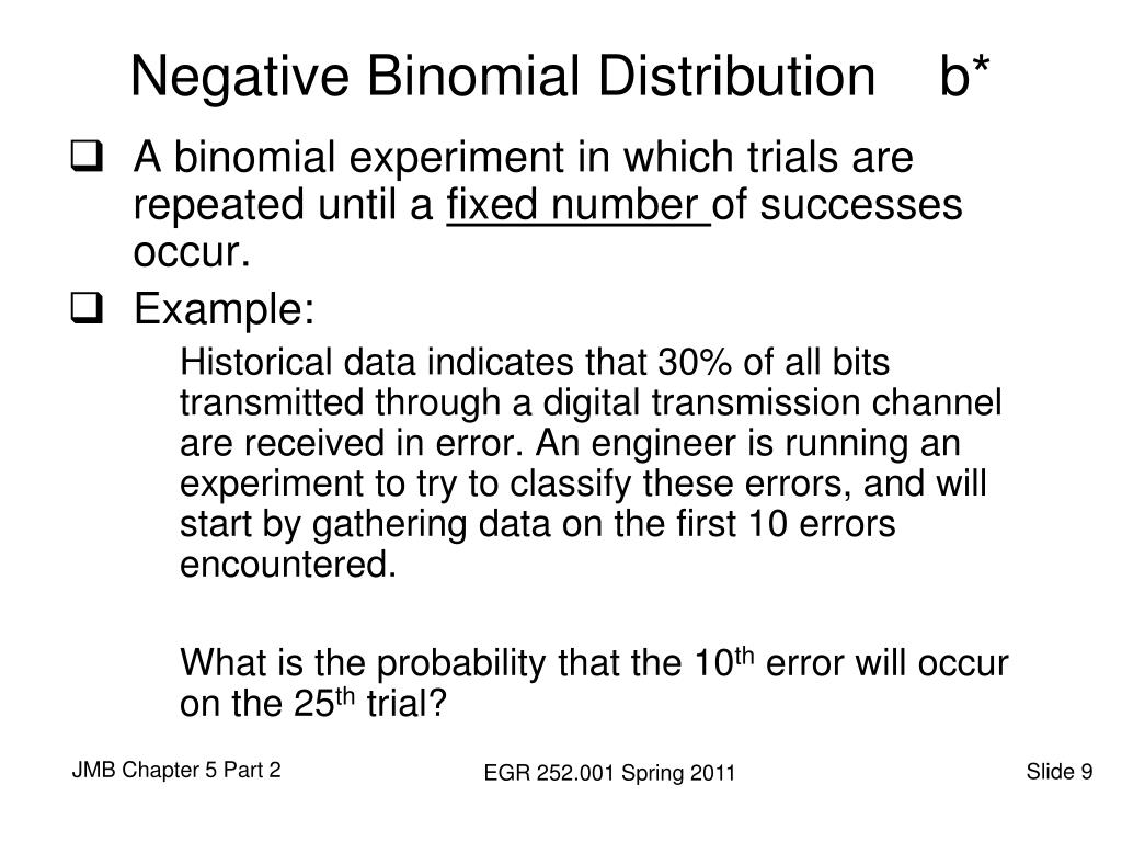 Negative Binomial Distribution    b*