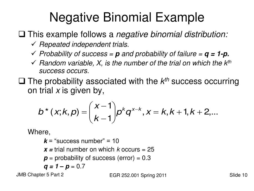 Negative Binomial Example