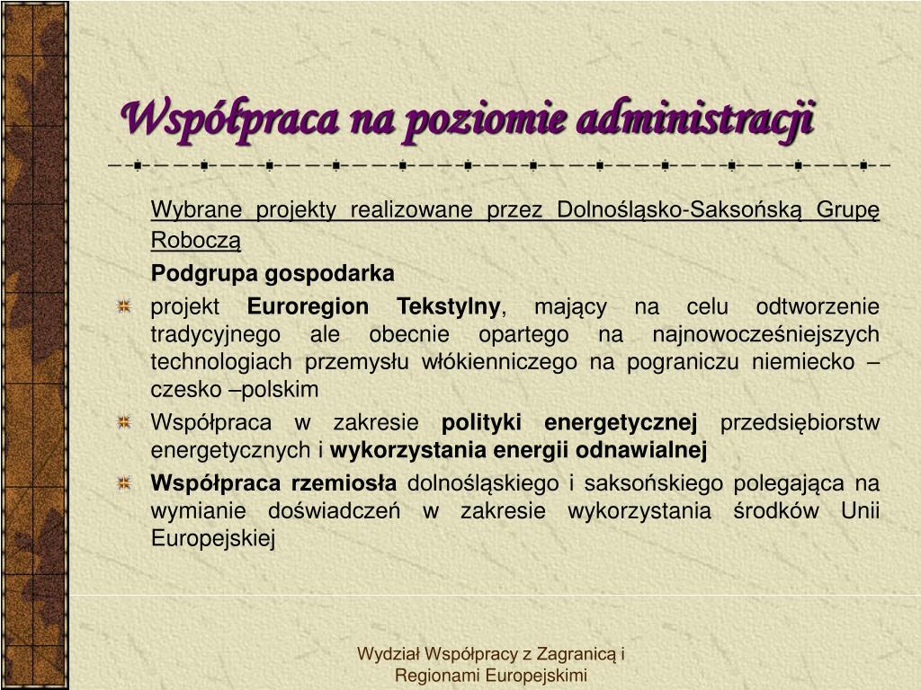 Współpraca na poziomie administracji