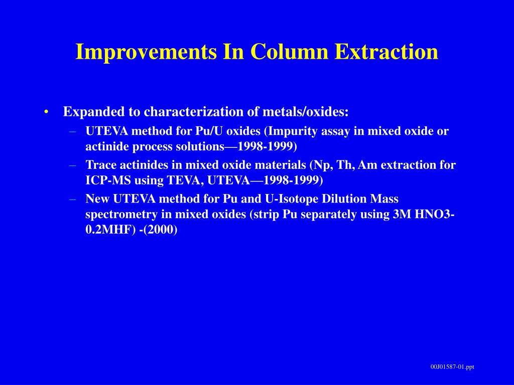 Improvements In Column Extraction