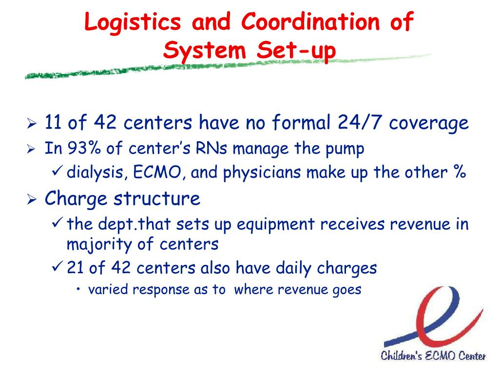 Logistics and Coordination of System Set-up