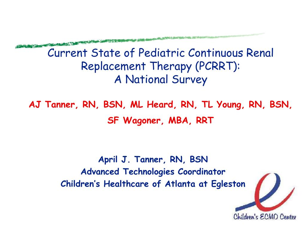 Current State of Pediatric Continuous Renal Replacement Therapy (PCRRT):