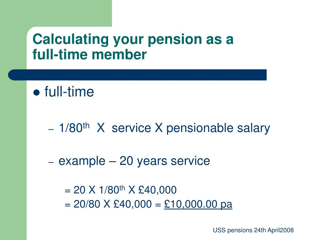 Calculating your pension as a