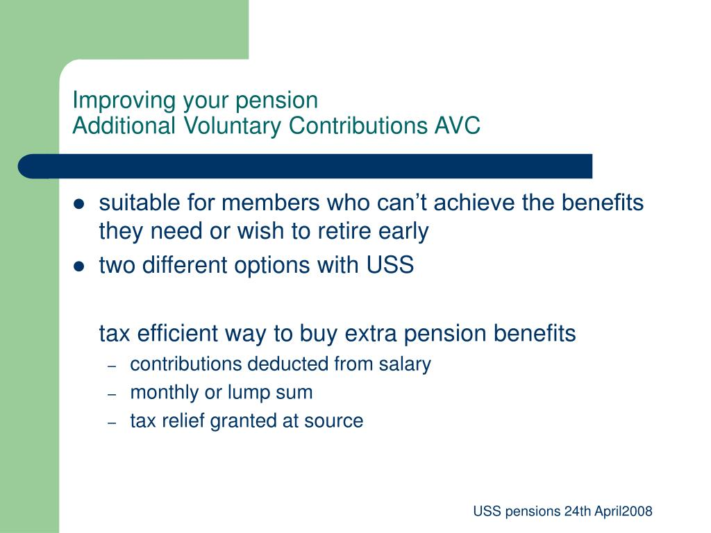 Improving your pension