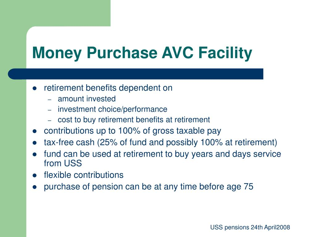 Money Purchase AVC Facility