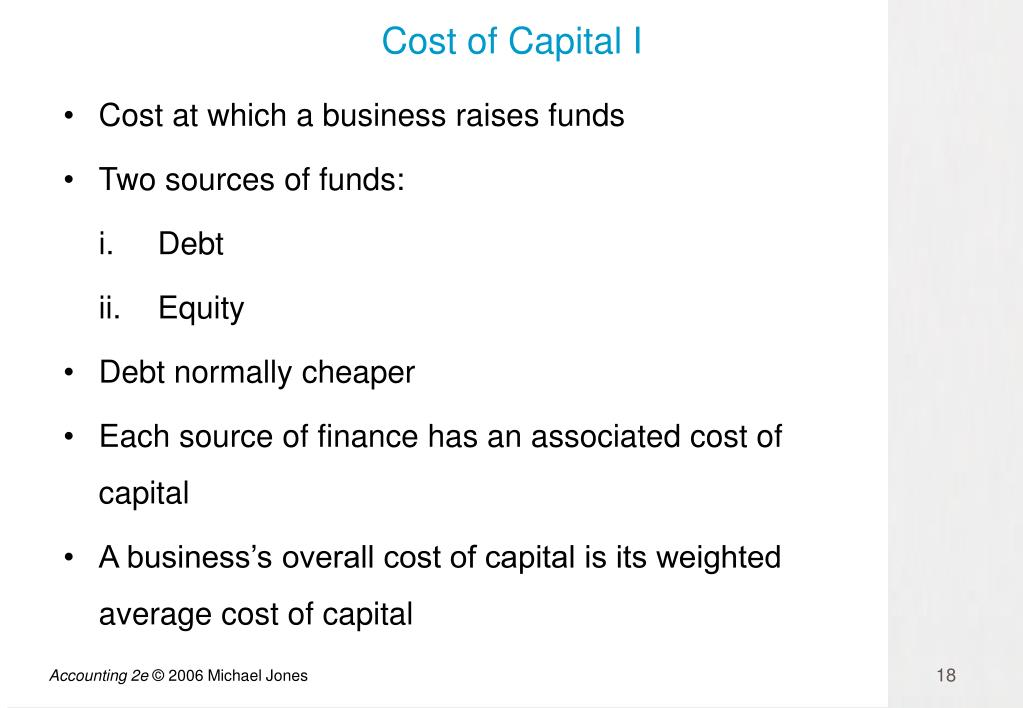 Cost of Capital I