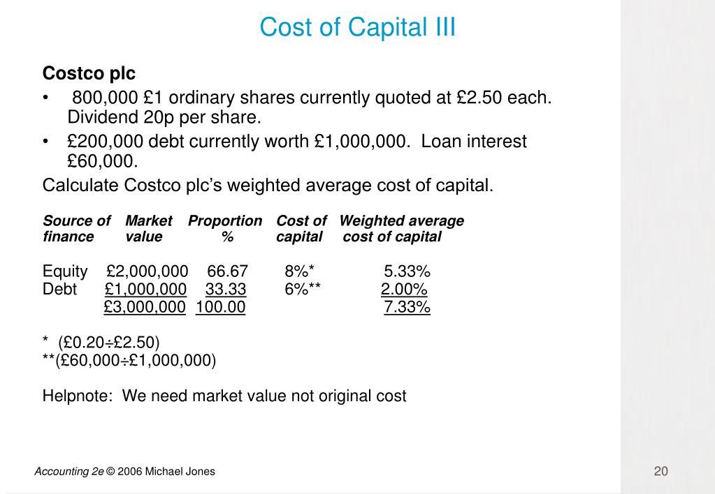 Cost of Capital III
