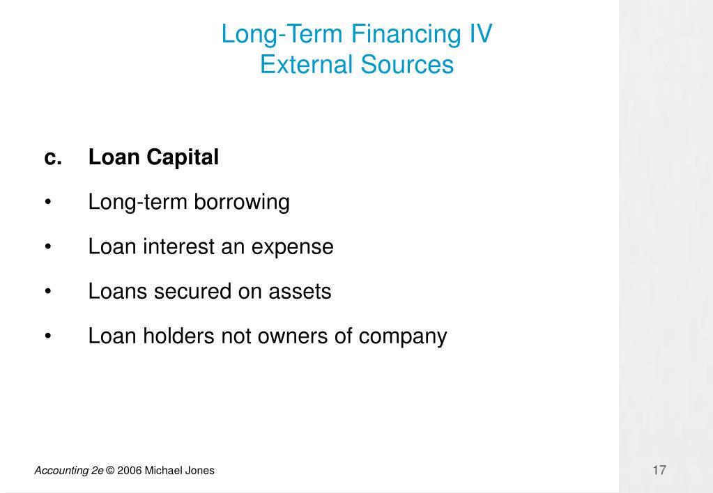 Long-Term Financing IV