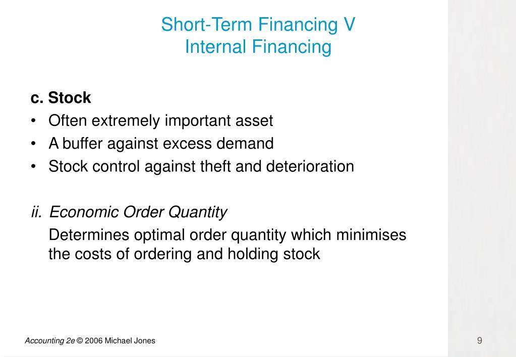 Short-Term Financing V
