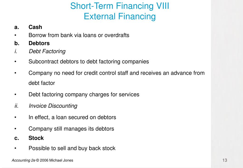Short-Term Financing VIII
