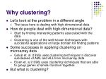 why clustering