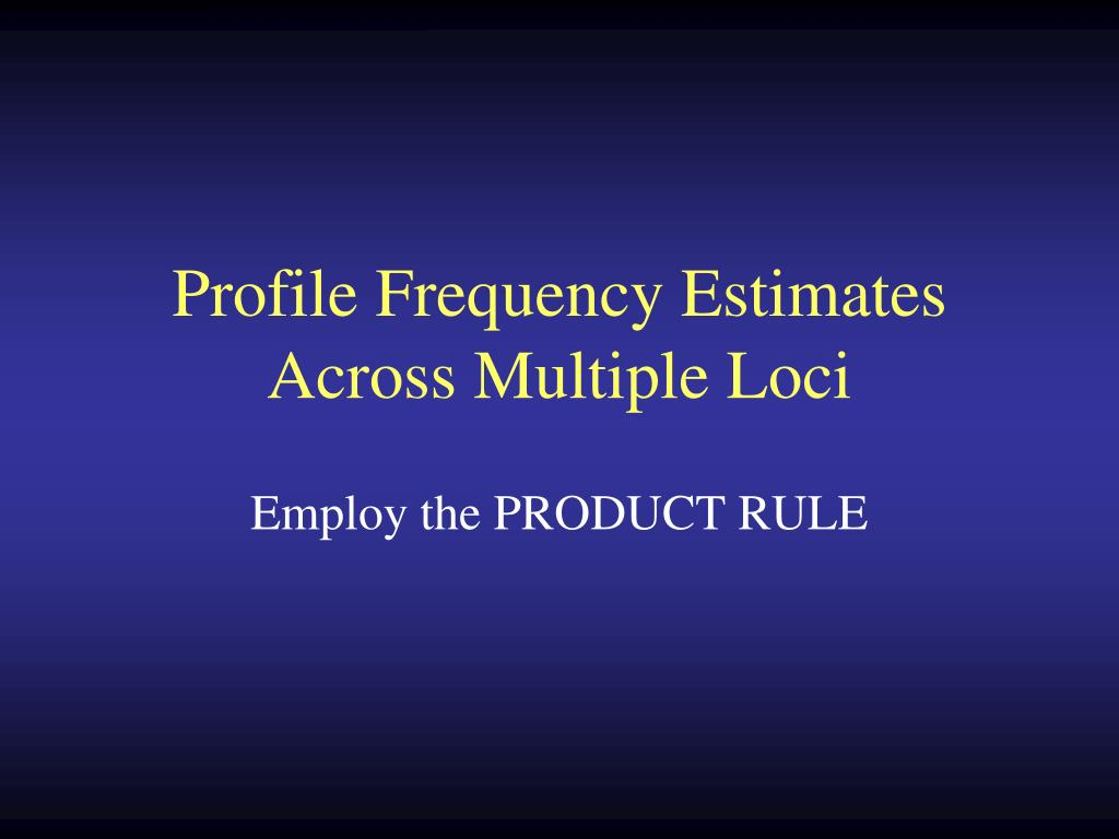 Profile Frequency Estimates Across Multiple Loci