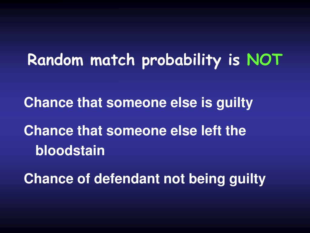 Random match probability is