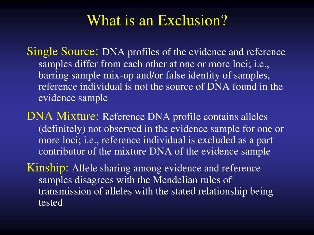 What is an Exclusion?