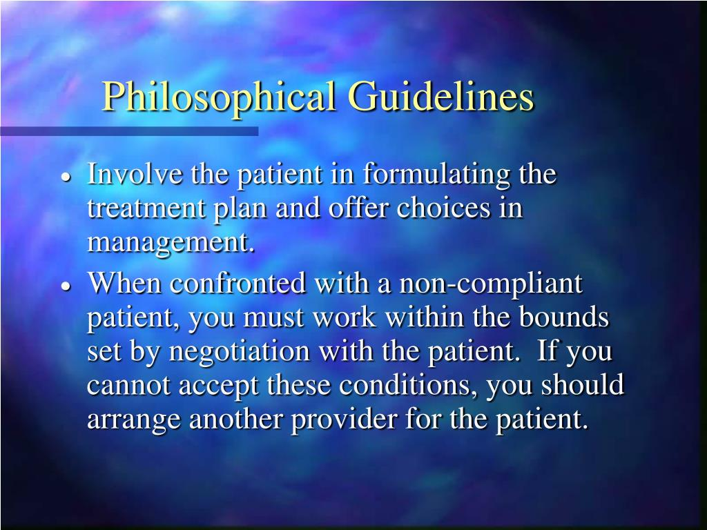 Philosophical Guidelines