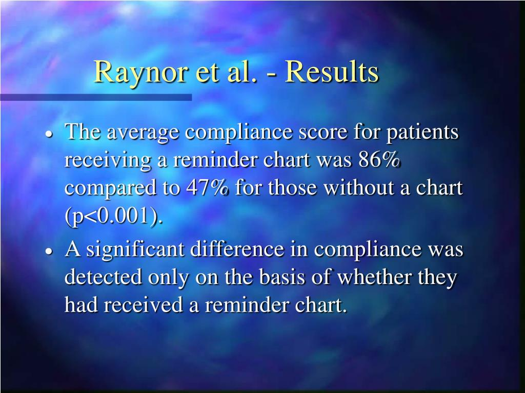 Raynor et al. - Results