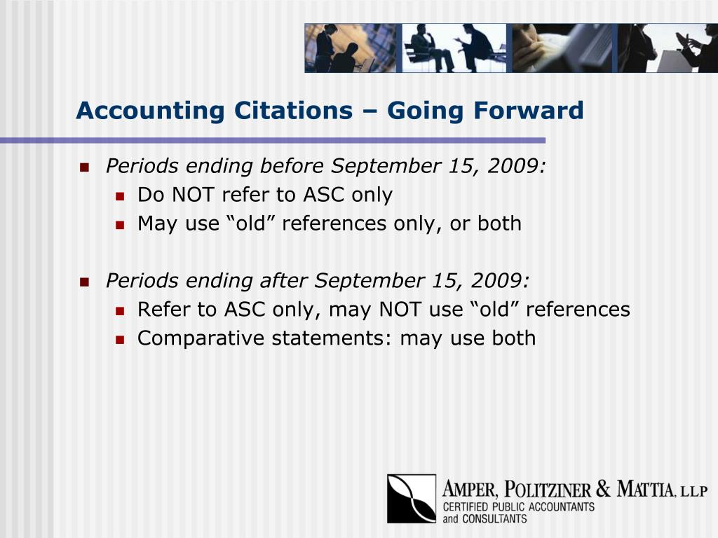 Accounting Citations – Going Forward